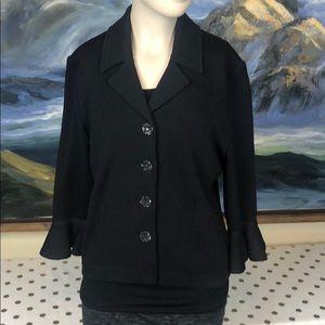 NWOT St. John Evening black knitted cardigan